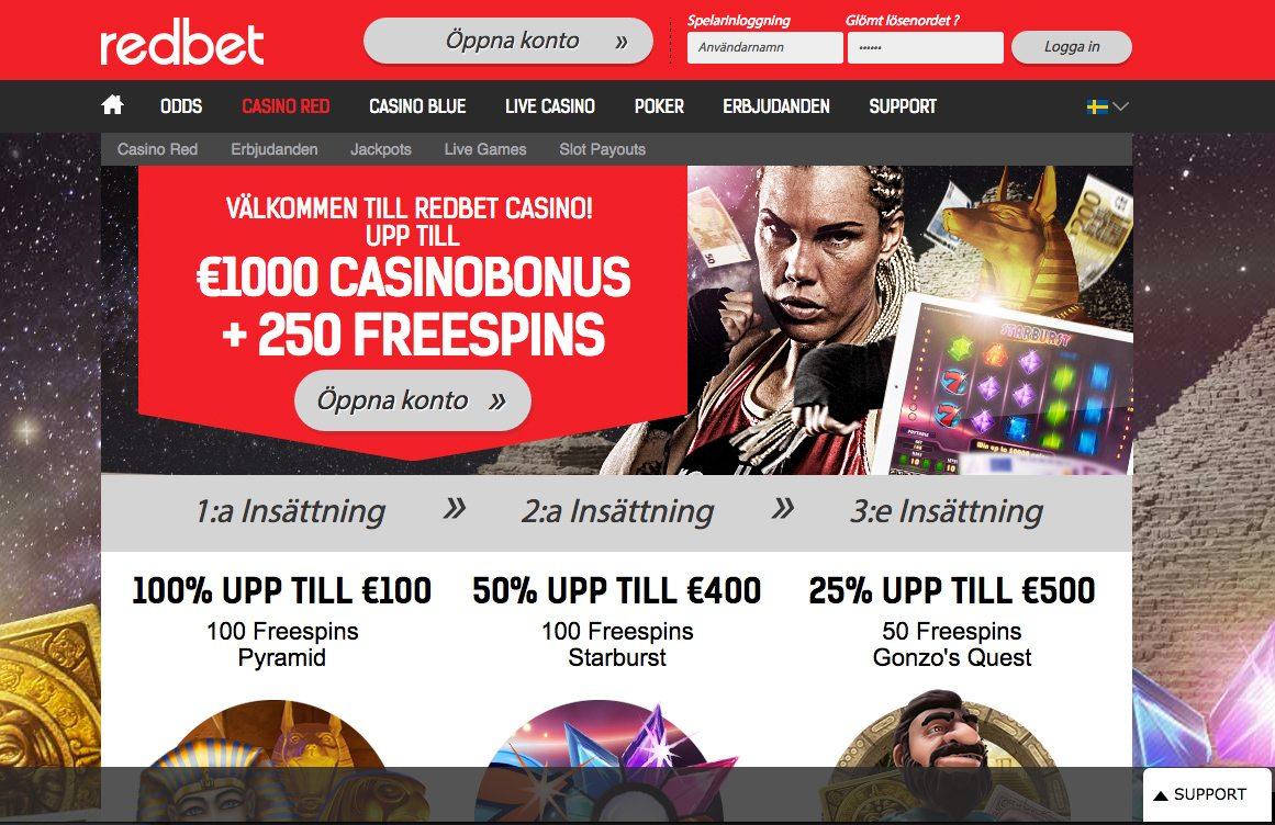 generösa casino bonusar
